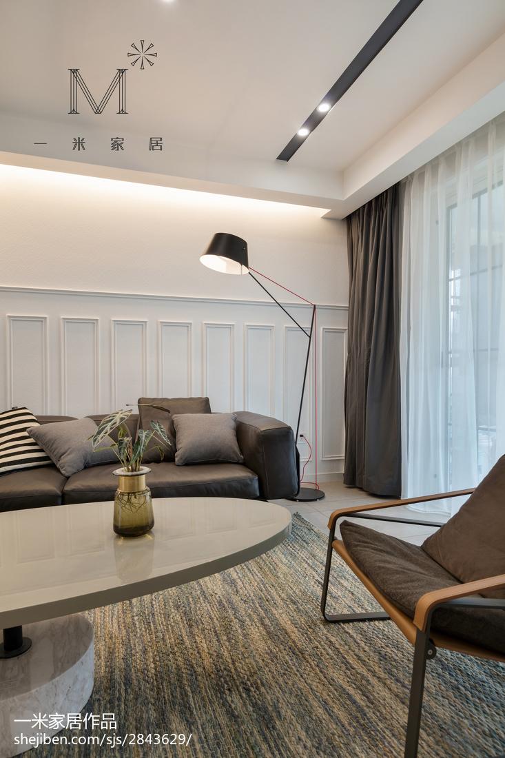 精选95平大小客厅三居现代欣赏图