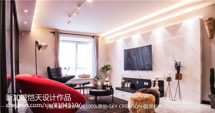 美式古典设计风格卧室效果图