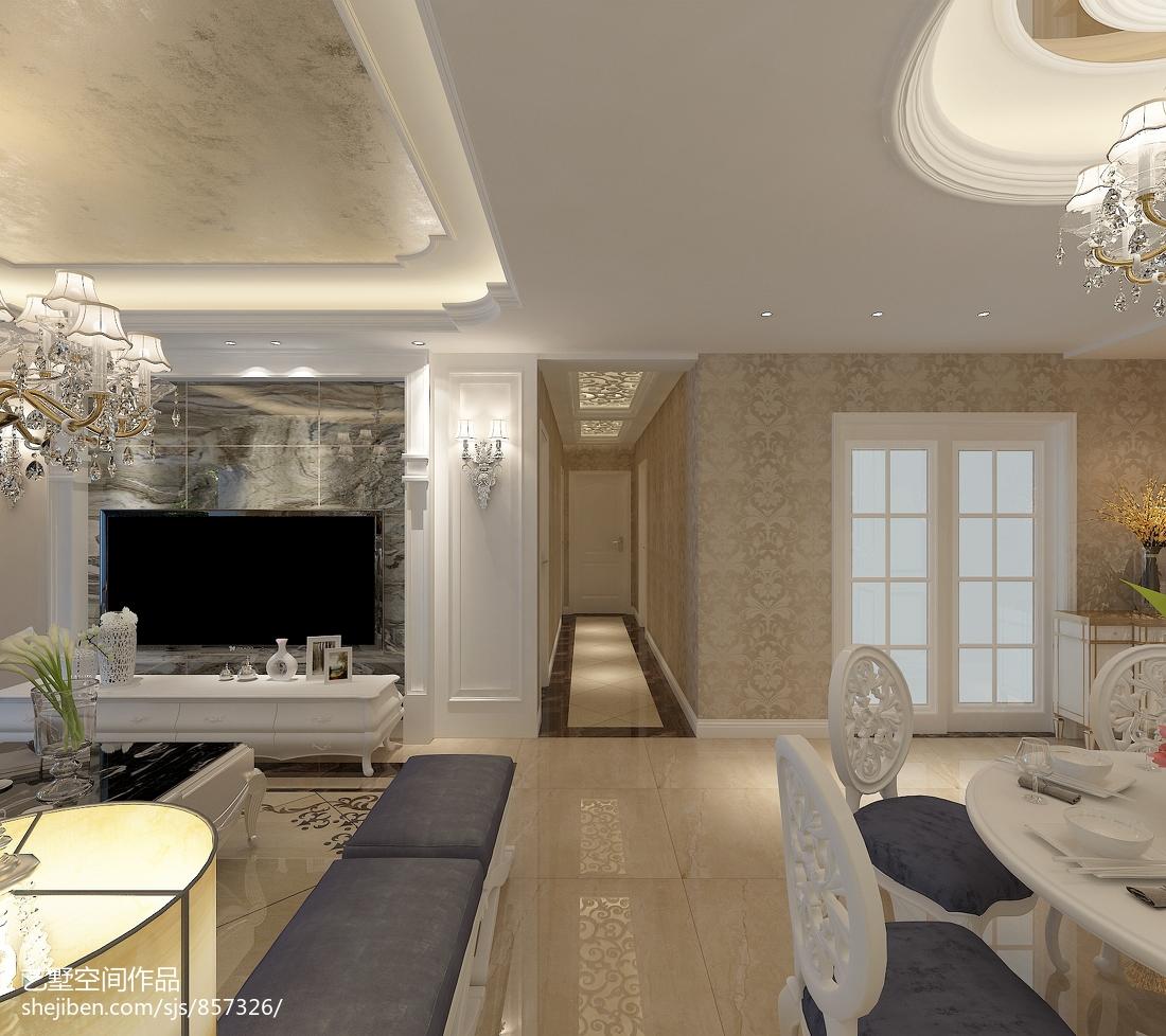 欧式极简沙发背景墙效果图