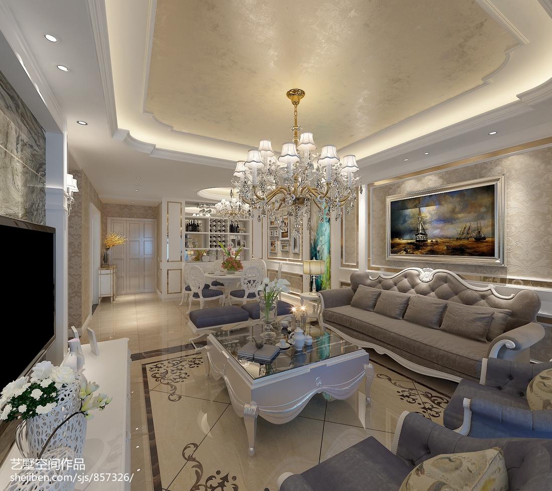 欧式极简设计卧室效果图