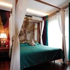 精美76平米二居卧室东南亚装饰图片大全