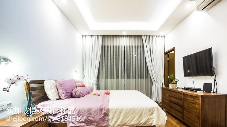 现代简欧设计卧室家装效果图