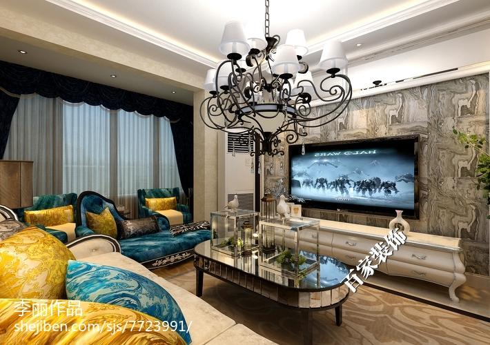 简约时尚客厅家装设计效果图