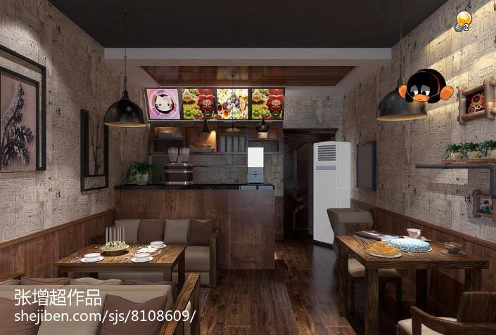 浅色打底的田园风格厨房效果图