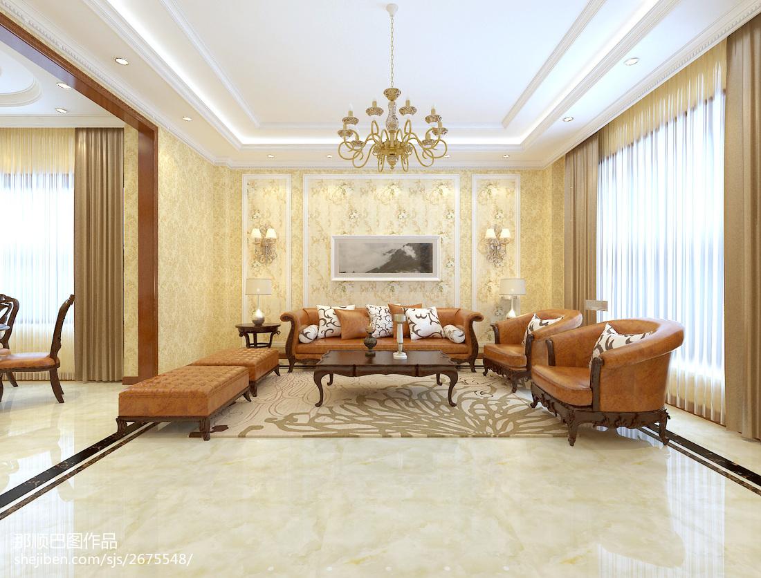 精美面积118平别墅客厅简约装饰图