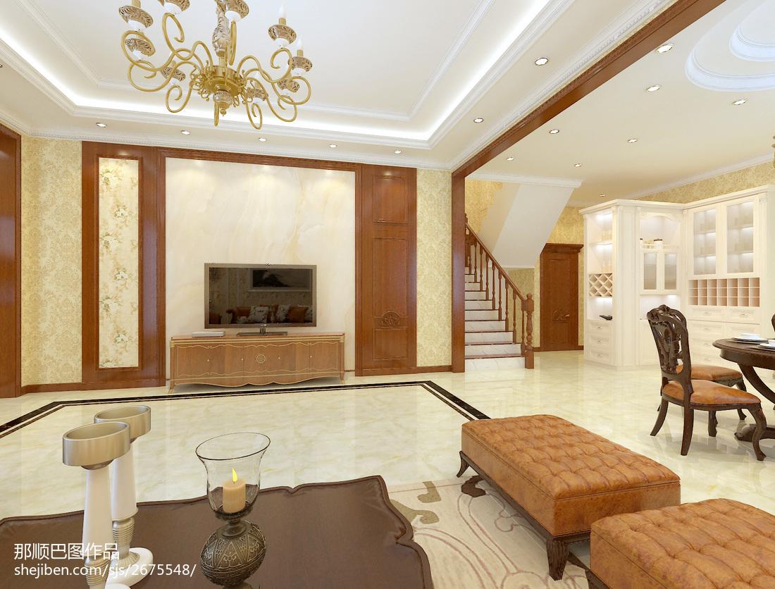 简约别墅客厅装修设计效果图片欣赏