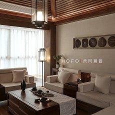热门面积140平复式客厅东南亚装修图片