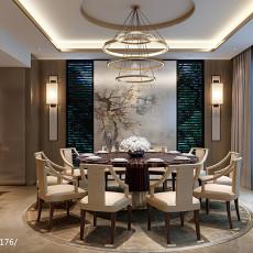 精选114平米中式别墅餐厅装修设计效果图片