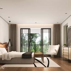 热门面积133平别墅卧室中式装修欣赏图片
