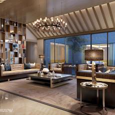 精美面积131平别墅客厅中式装修欣赏图