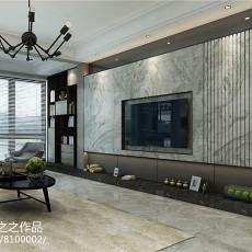 2018精选面积107平现代三居客厅装饰图片大全