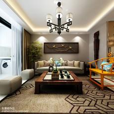 精选面积79平中式二居客厅效果图片大全