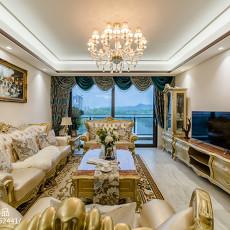 优雅313平欧式样板间客厅设计美图