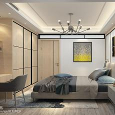 精美109平米三居卧室简约装饰图片欣赏