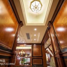 精选111平米美式别墅玄关装修设计效果图片