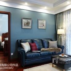 热门124平米美式别墅书房装修效果图片大全