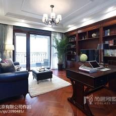 2018精选125平米美式别墅书房装修效果图片