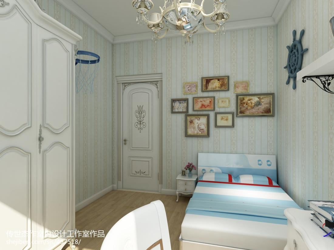 热门96平米三居儿童房欧式效果图