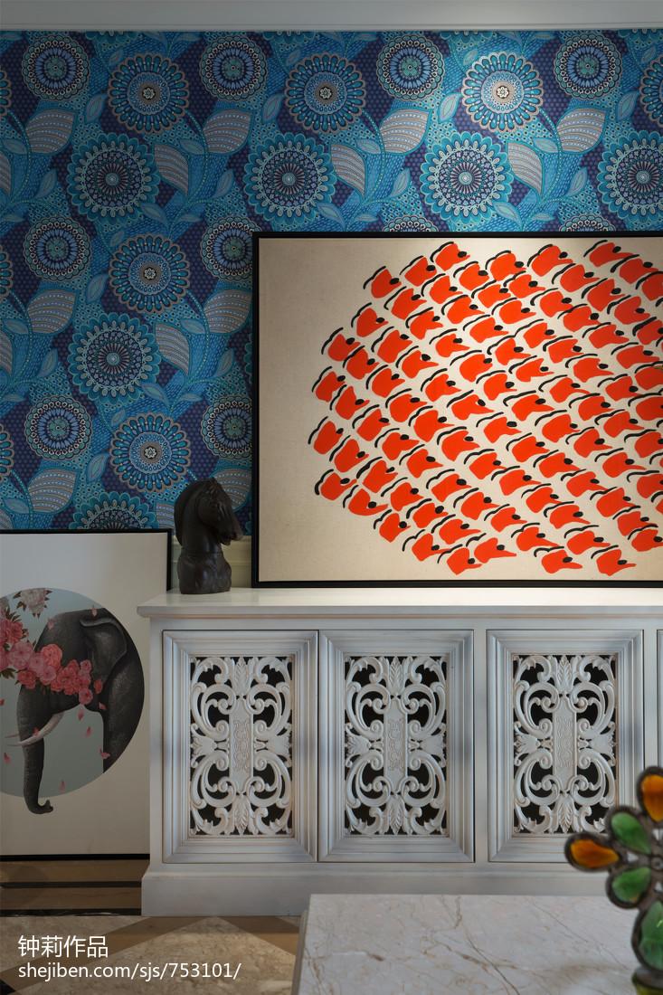 91平米三居客厅混搭装修实景图片