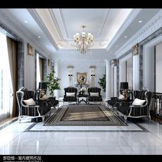 2018精选112平米欧式别墅客厅装修效果图片欣赏