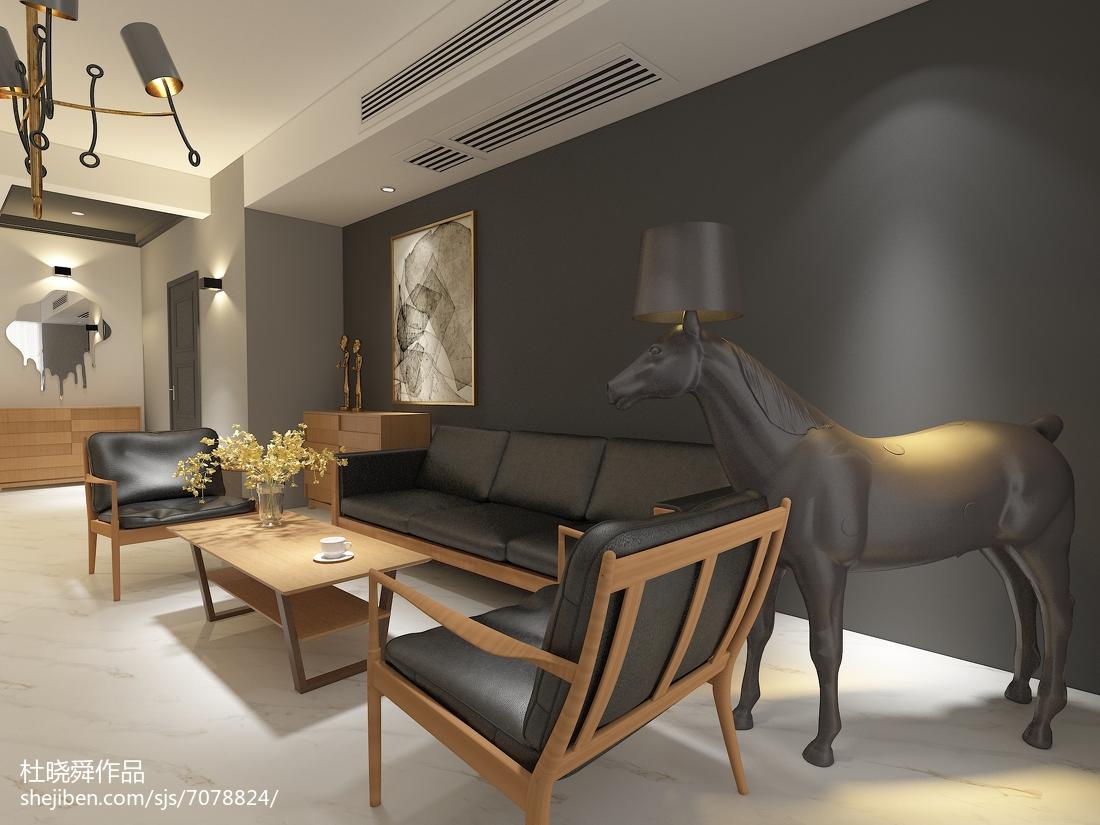 美式乡村风格二居室设计装修图片