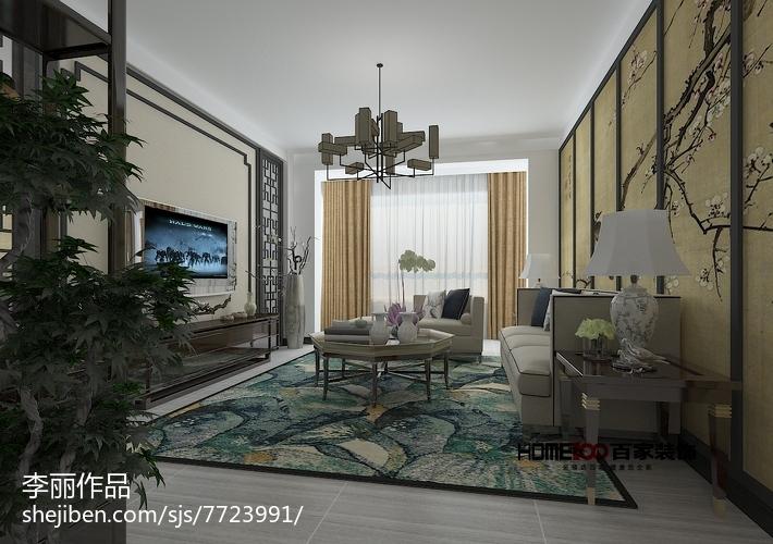 热门面积141平复式客厅美式装饰图片大全