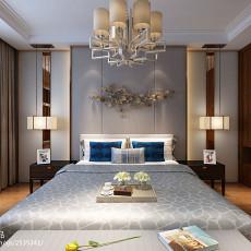 2018精选面积99平中式三居卧室装饰图片欣赏