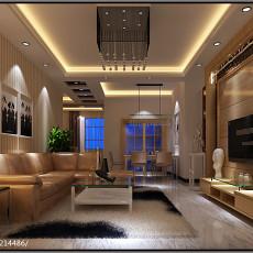 精美107平方三居客厅现代装修实景图