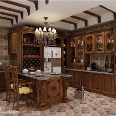 热门面积112平别墅厨房欧式实景图片大全