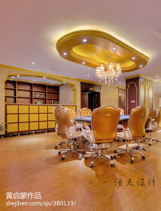 现代简约别墅书房设计装修图片