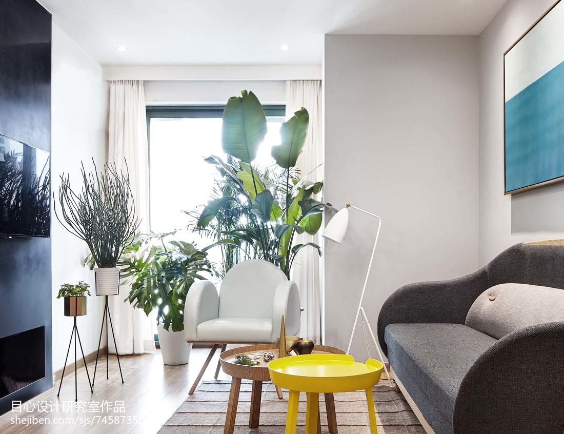 明亮49平现代小户型客厅图片欣赏