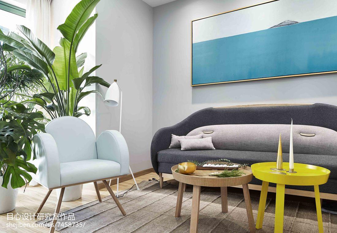 精美83平米现代小户型客厅装修实景图片大全