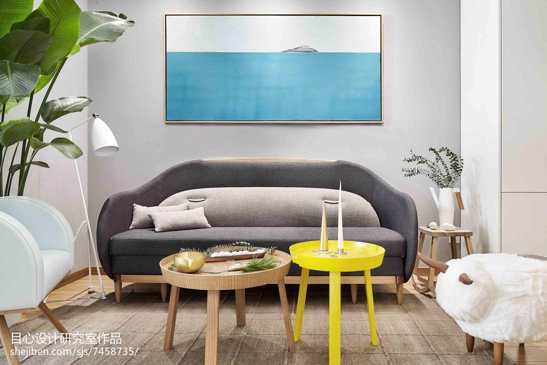 精美84平米现代小户型客厅装饰图片欣赏