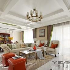 精选面积132平别墅客厅美式装修效果图片