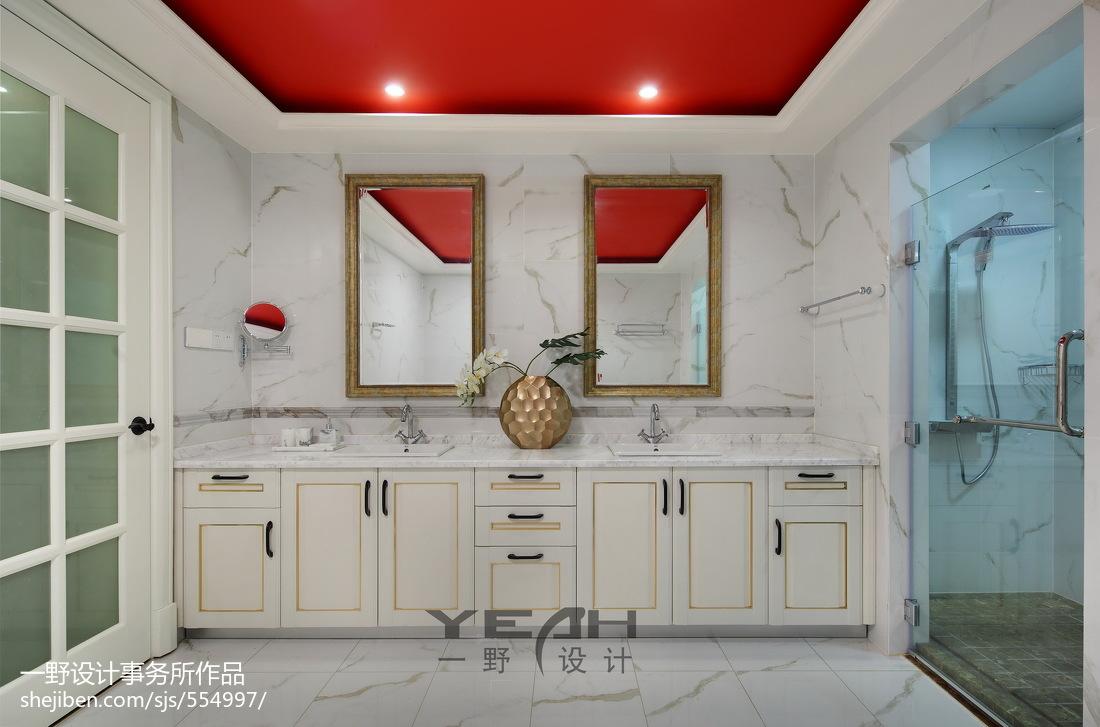 精美面积129平别墅卫生间美式实景图