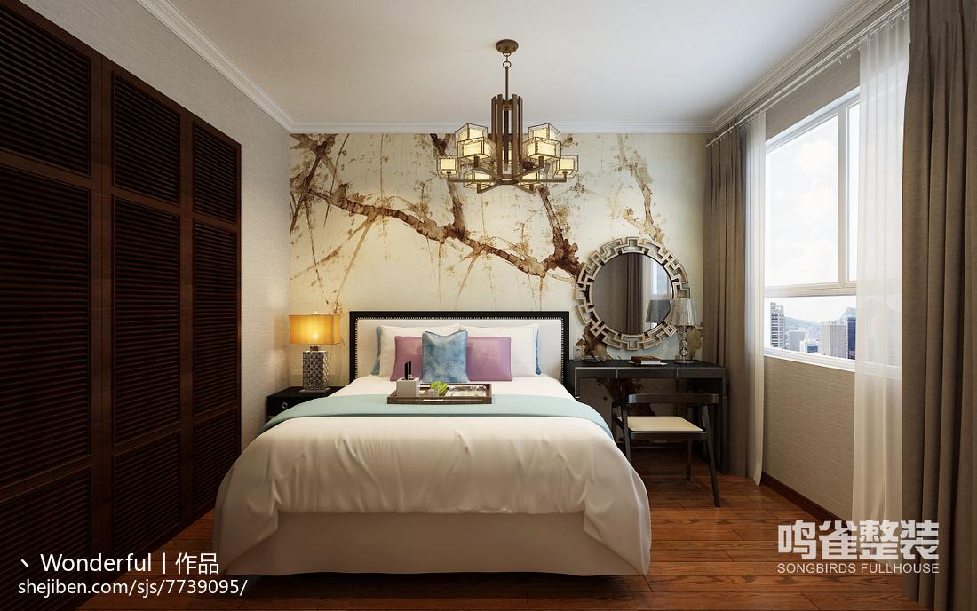 宜家卧室背景墙装修图设计
