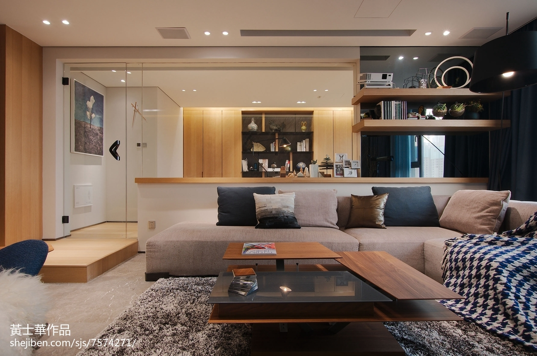 201876平米二居客厅现代欣赏图片