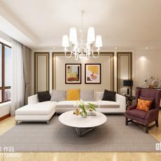 158平新中式风格客厅效果图