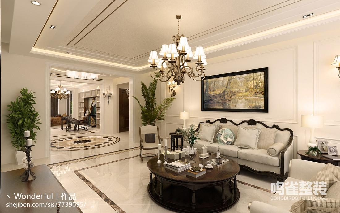 现代风格三居室室内隔断装饰图片