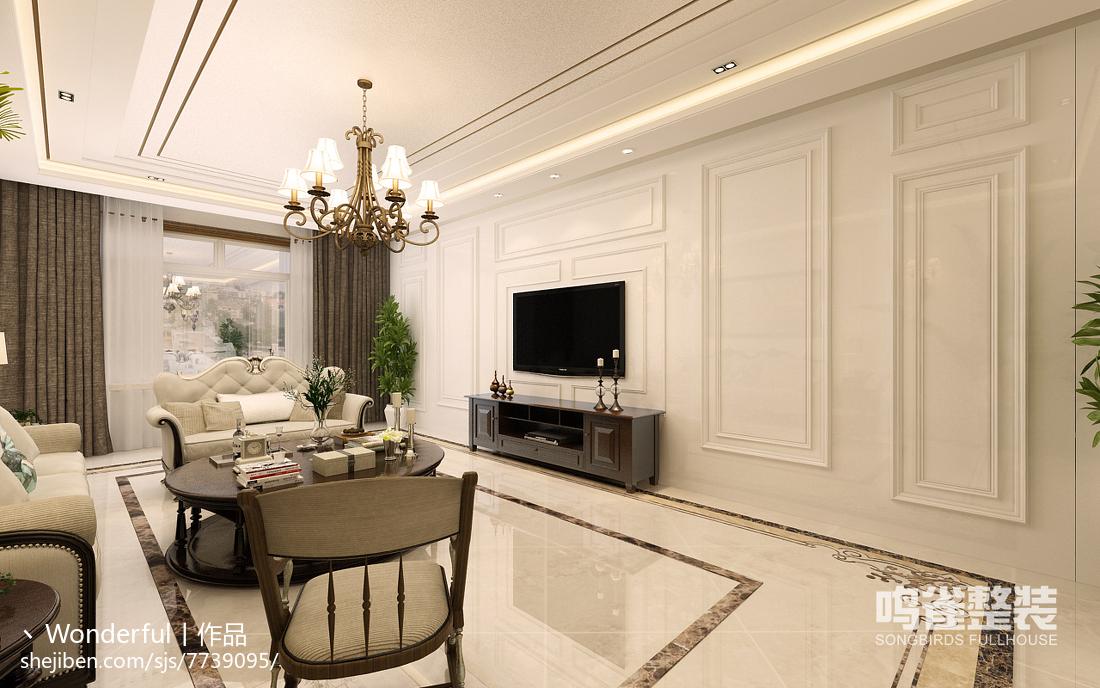 现代风格电视背景墙室内装饰图片