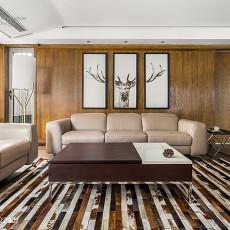精美面积143平现代四居客厅装修设计效果图片欣赏