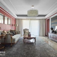 2018精选面积109平欧式三居客厅实景图片大全