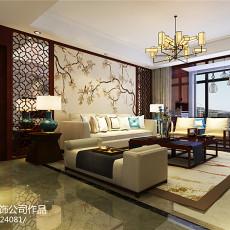 精美94平米三居客厅中式实景图片大全
