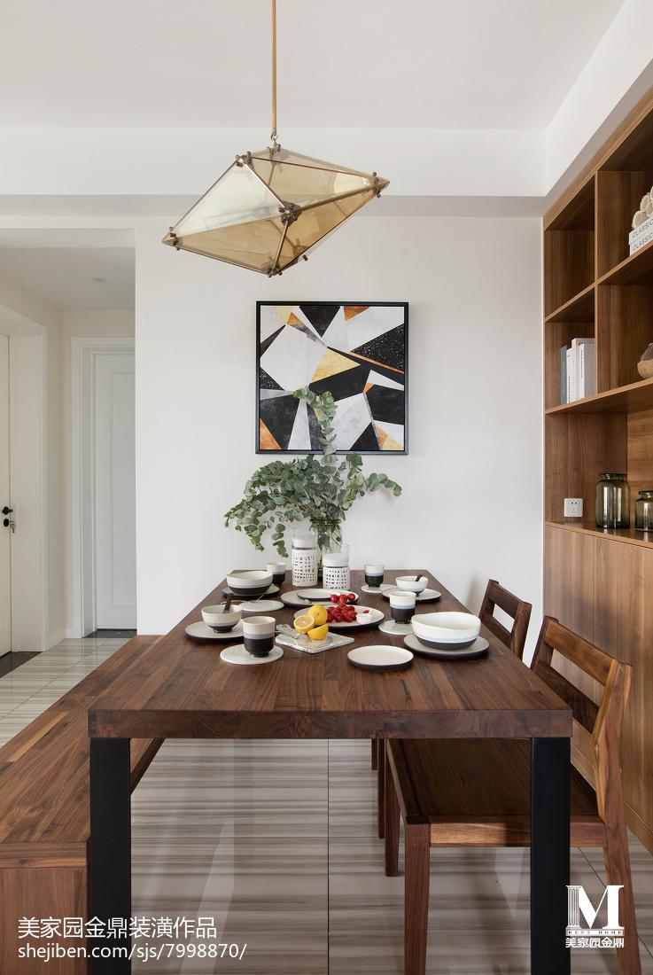 98平米三居餐厅北欧装修效果图片