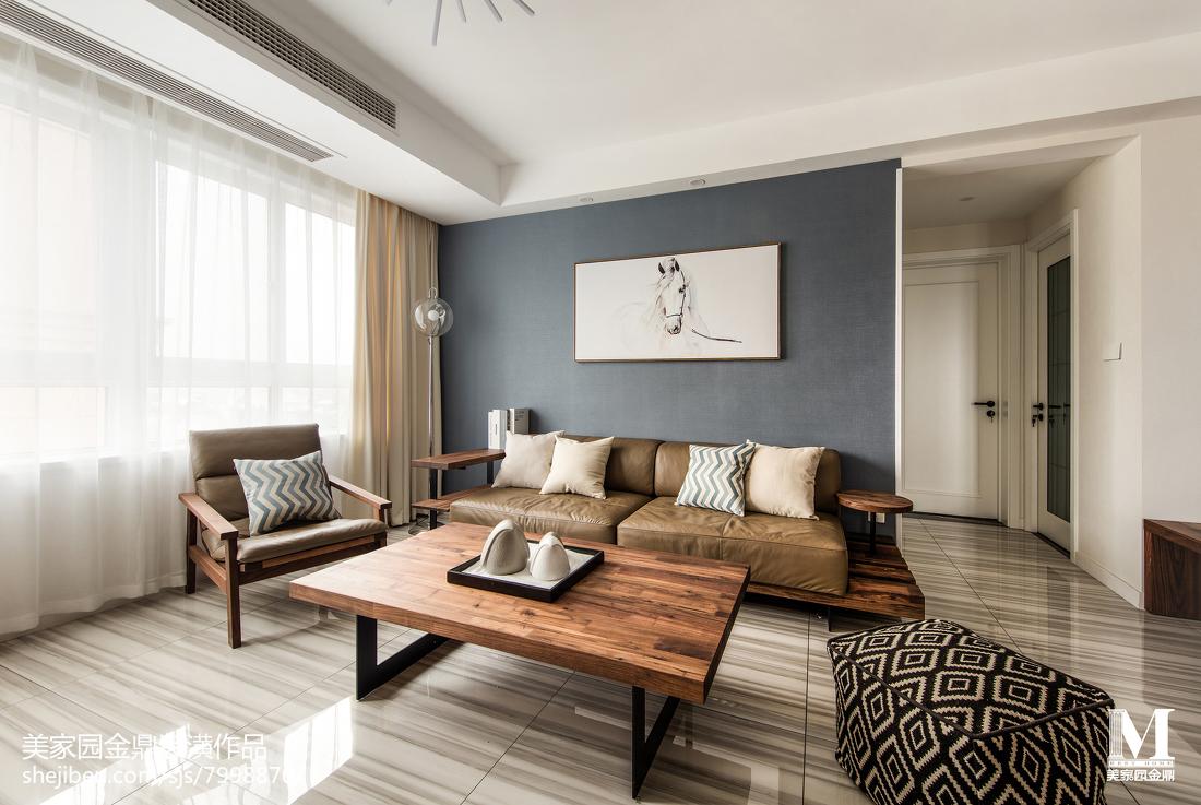 精选108平米三居客厅北欧装饰图片