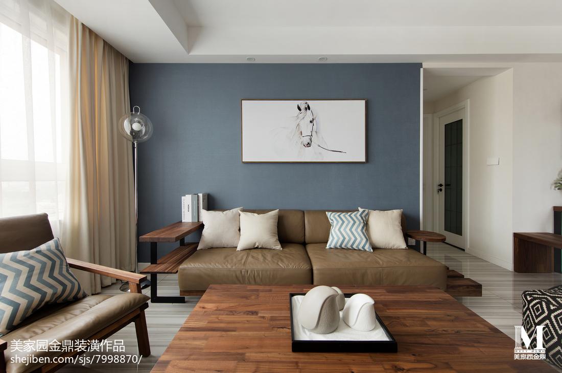热门95平方三居客厅北欧装修欣赏图