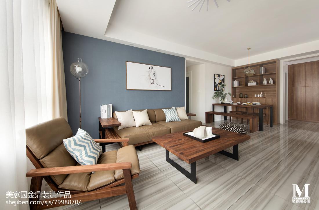 精美面积96平北欧三居客厅装修实景图