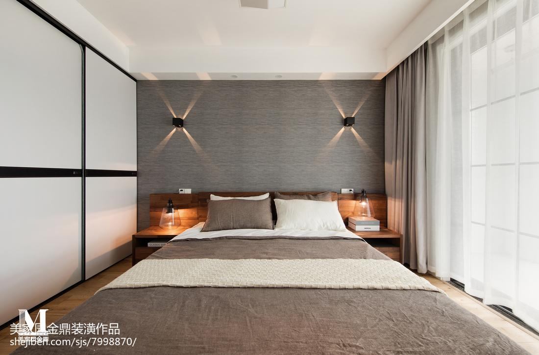 精选103平方三居卧室北欧装修效果图片欣赏