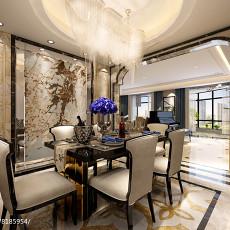 2018精选面积72平新古典二居餐厅装修效果图片