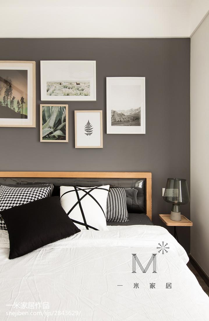 面积102平北欧三居卧室装修图片